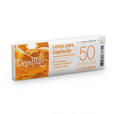 50 Lenços Para Depilação em Fibra Natural - Depilflax