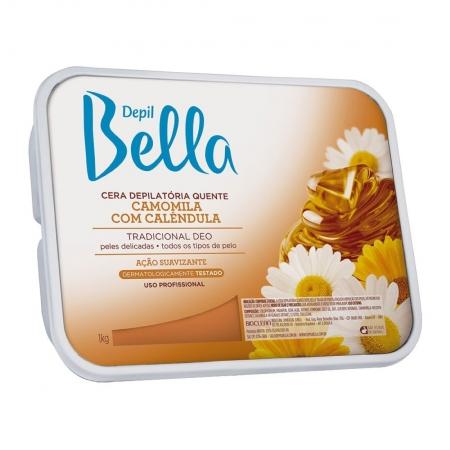 Cera Depilatória Quente Camomila 1kg - Depil Bella