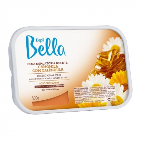 Cera Depilatória Quente Camomila 500g - Depil Bella