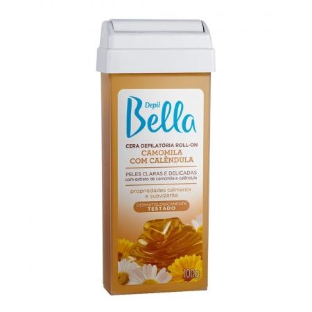 Cera Depilatória Roll-on Refil Camomila e Calêndula 100g - Depil Bella
