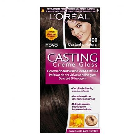 Coloração Casting Creme Gloss 400 Castanho Natural - L'Oréal