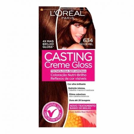 Coloração Casting Creme Gloss 634 Pão de Mel - L'Oréal