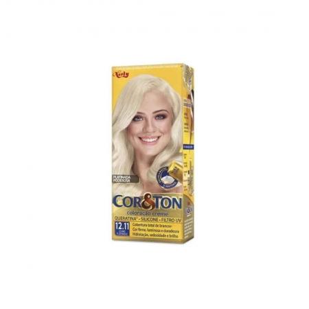 Coloração Creme Cor&Ton 12.11 louro Platinado - Niely