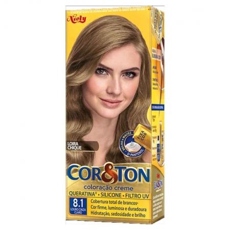 Coloração Creme Cor&Ton 8.1 Louro Cinza Claro-Niely