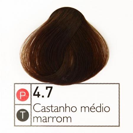 Coloração Instantly Collor Castanho Médio Marrom 4.7 - Alpha Line