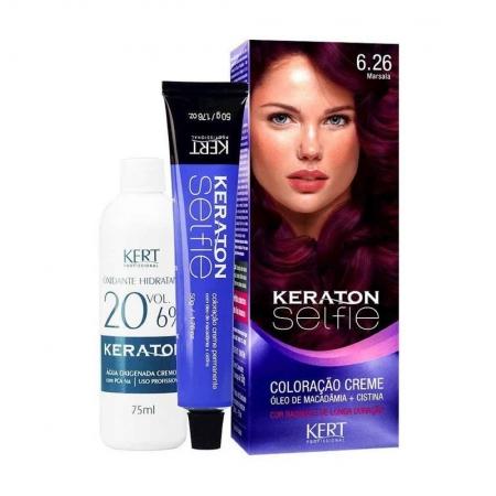 Coloração Keraton Selfie 6.26 Marsala - Kert Profissional