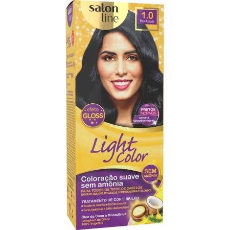 Coloração Light Color Efeito Gloss Preto Azulado 1.0 - Salon Line