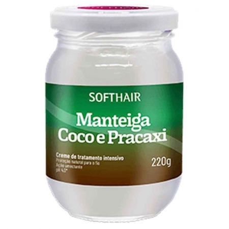 Creme de Tratamento Intensivo Manteiga Coco e Pracaxi 220g - Softhair