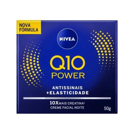 Creme Facial Noite Q10 Power Antissinais + Elasticidade 50g - Nivea