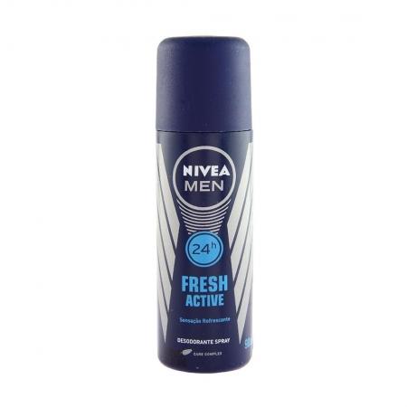 Desodorante Masculino Spray Fresh Active 24h 90ml - Nivea