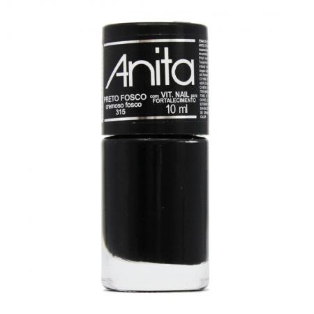 Esmalte Cremoso Preto Fosco 10ml - Anita