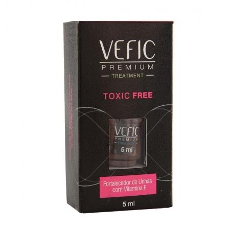 Esmalte Treatment Fortalecedor de Unhas com Vitamina F Toxic Free 5 ml - Vefic Premium