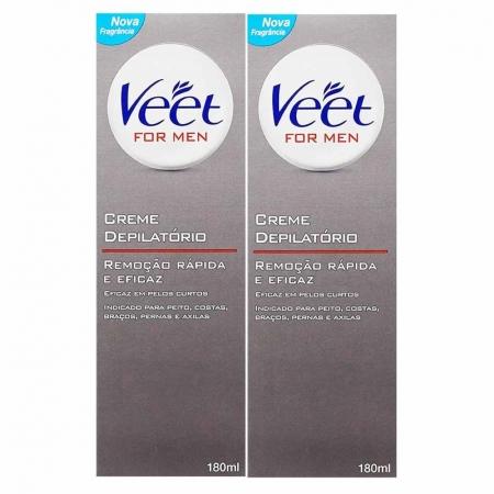 Kit 2 Cremes Depilatório for Men 180ml - Veet