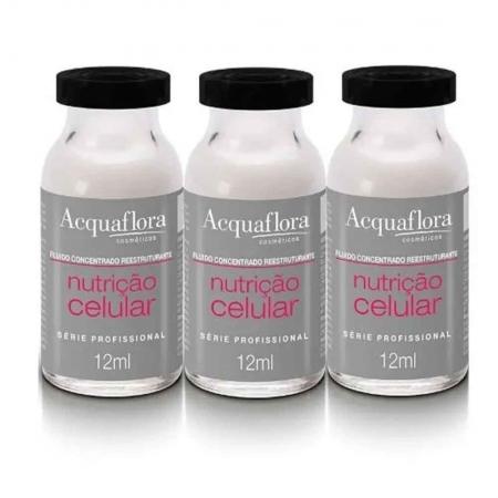 Kit 3 Fluído Concentrado Nutrição Celular 12ml - Acquaflora