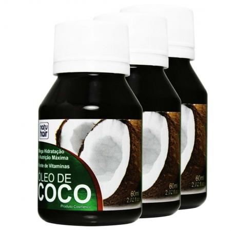 Kit 3 Óleo de Coco NatuHair 60ml - Skafe
