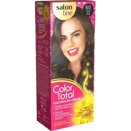 Kit Coloração Creme Color Total N° 6.0 Louro Escuro - Salon Line