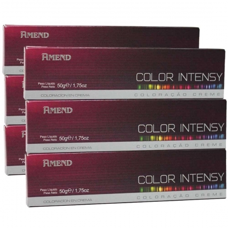 Kit com 6 Coloração Color Intensy Proteína da Seda 0.6 Vermelho Intensificador- Amend