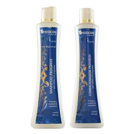 Kit Progress Shampoo 500ml + Condicionador 500ml - Midori Profissional