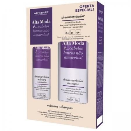 Kit Shampoo 300ml Máscara 200g Desamarelador Alta Moda - Alfaparf