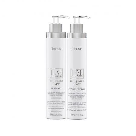 Kit Shampoo e Condicionador Luxe Creations Regenerative Care - Amend