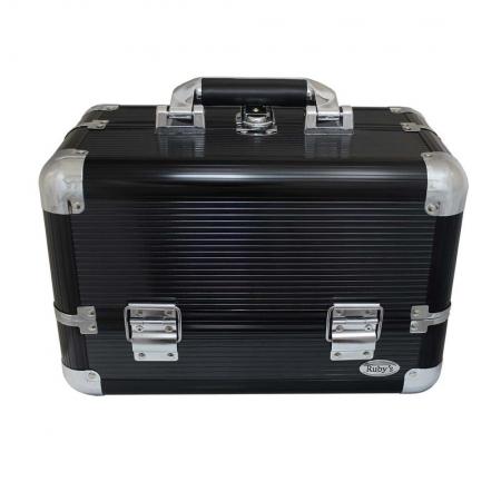 Maleta Preta Profissional Porta Maquiagem ou Joias Ref. FS-1193C - Ruby's