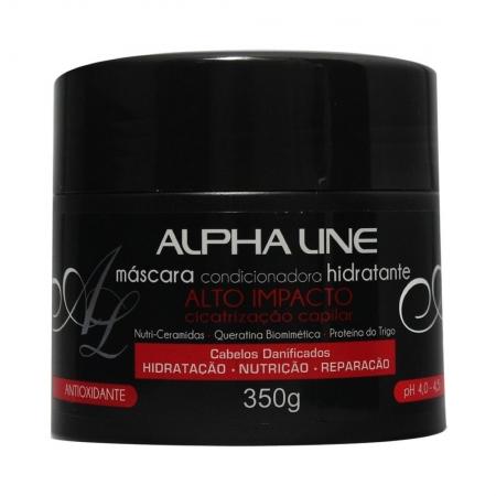 Máscara Hidratante Alto Impacto Cicatrização Capilar 350g - Alpha Line