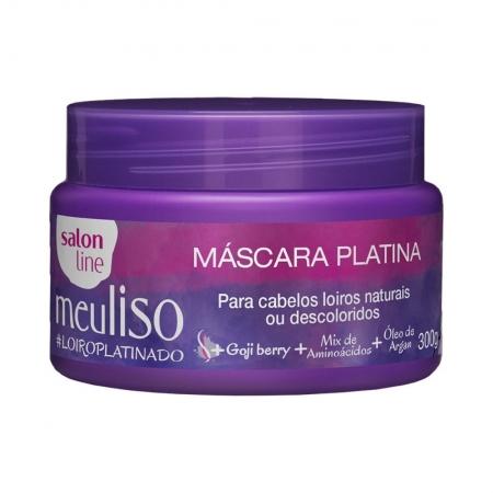 Máscara Platina Meu Liso #LoiroPlatinado 300g - Salon Line