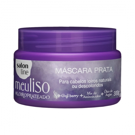 Máscara Prata Meu Liso #LoiroPrateado 300g - Salon Line