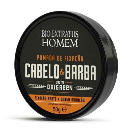 Pomada de Fixação Cabelo e Barba 50g - Bio Extratus Homem