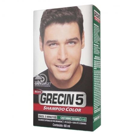 Shampoo Color Castanho Escuro 60ml - Grecin 5