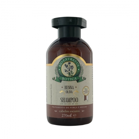 Shampoo Henna Oliva Botica 270ml - Bio Extratus