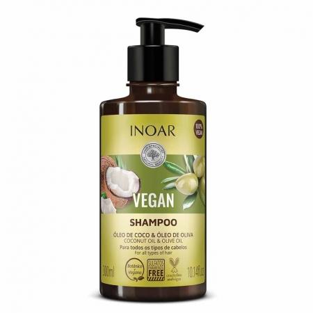 Shampoo Vegano Óleo de Coco e Óleo de Oliva 300ml - Inoar