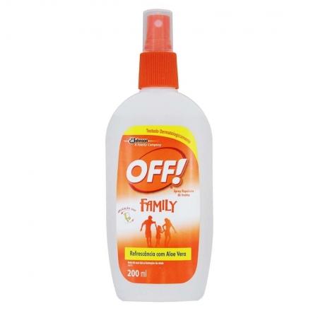 Spray Repelente de insetos Family 200ml - OFF!