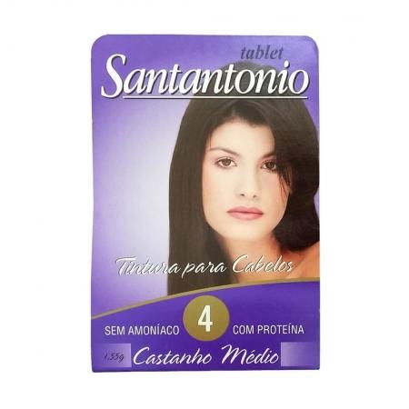 Tintura para Cabelo 4 Castanho Médio 1,55g - Tablet Santantonio