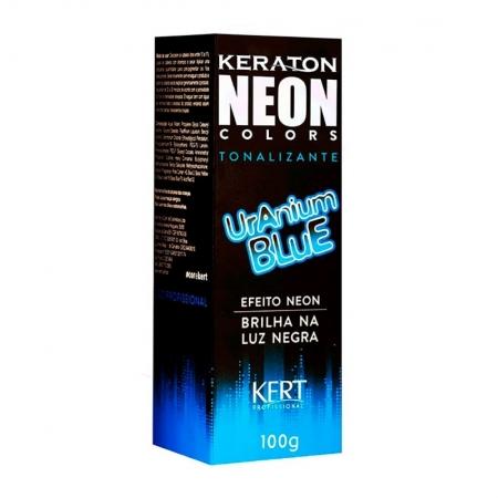 Tonalizante Keraton Neon Colors sem Amônia Efeito Neon Uranium Blue 100g - Kert