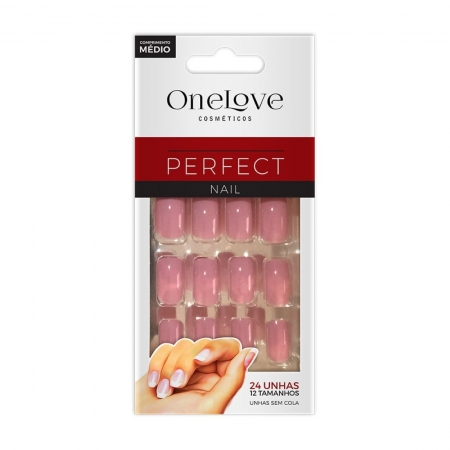 Unhas Postiças Perfect Nail OL-507 Misti Comprimento Médio - One Love