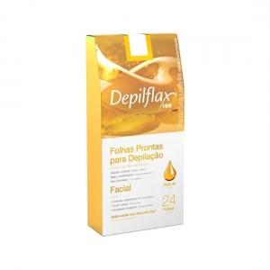 24 Folhas de Cera Depilatória Facial Natural - Depilflax