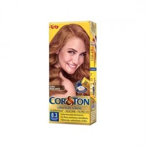 Coloração Creme Cor&Ton 8.3 Louro Claro Dourado-Niely