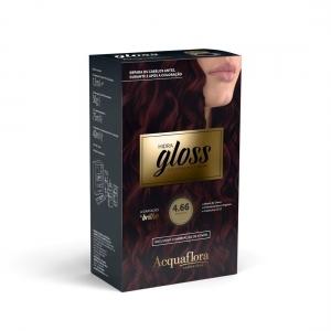 Coloração Creme Hidra Gloss 4.66 Borgonha - Acquaflora