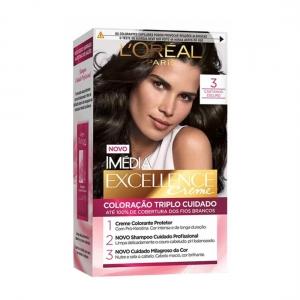 Coloração Imédia Excellence Creme 3 Castanho Escuro - L'Oréal