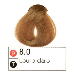 Coloração Intantly Collor Louro Claro 8.0 50g- Alpha Line