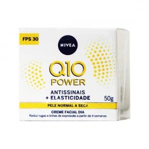 Creme Facial Dia Q10 Power Antissinais Normal a Seca FPS30 50g - Nivea