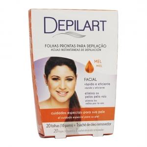 Folhas Prontas para Depilação Facial Mel - Depilart