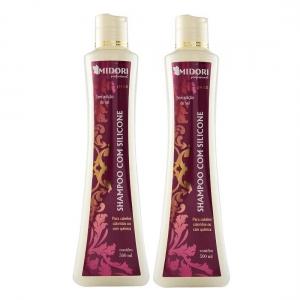 Kit 2 Shampoo com Silicone 500ml - Midori Profissional