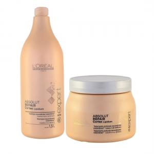 Kit Absolut Repair Cortex Shampoo 1,5L + Máscara 500g - L'oréal Professionnel