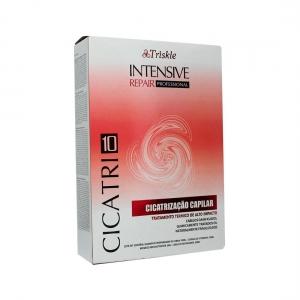 Kit Cicatrização Capilar Shampoo 50ml Carga de Vitamina 50ml Mousse 50g e Leave-in 50ml - Triskle