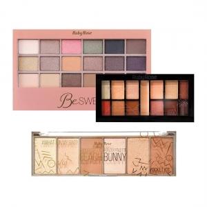 Kit de Sombras Paleta Mysterious Paleta Be Sweet e Iluminador Beach Bunny - Ruby Rose