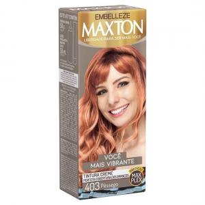 Kit Prático Tintura Creme Maxton 403 Pêssego - Embelleze