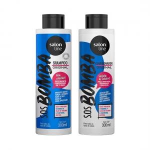 Kit S.O.S Bomba de Vitaminas Shampoo Condicionador Salon Line