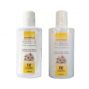 Kit Shampoo Condicionador Biondina 140ml - Anaconda